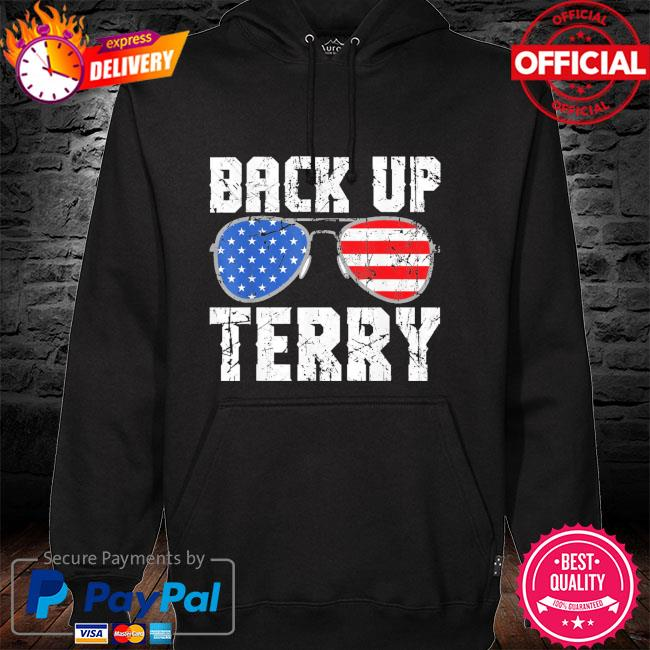 Glasses American flag back it up terry hoodie