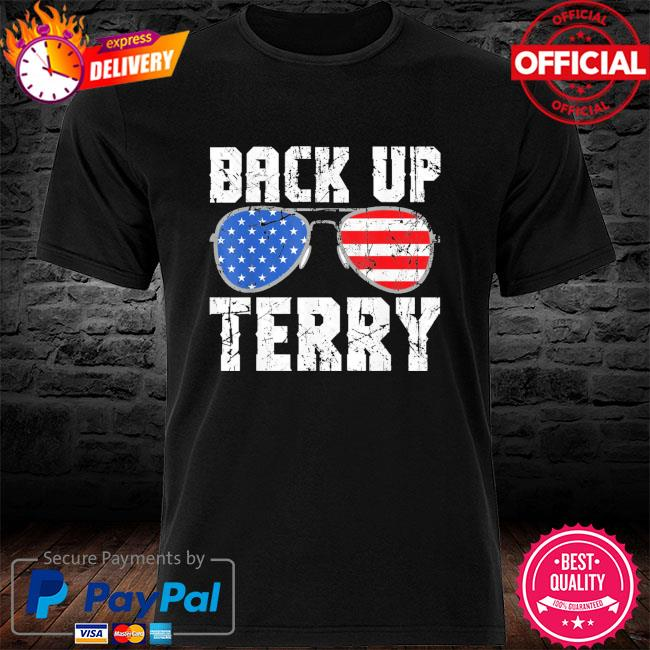 Glasses American flag back it up terry shirt