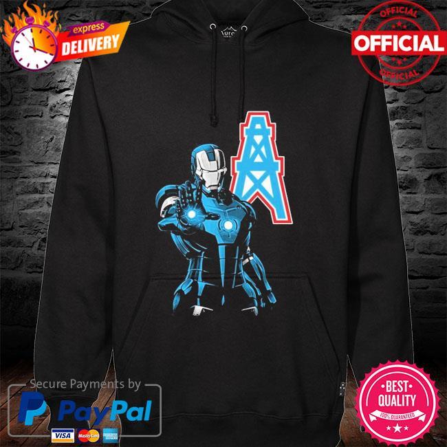 Houston oilers ironman Dc marvel jersey superhero avenger hoodie