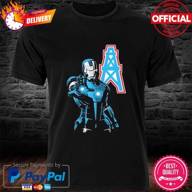 Houston oilers ironman Dc marvel jersey superhero avenger shirt