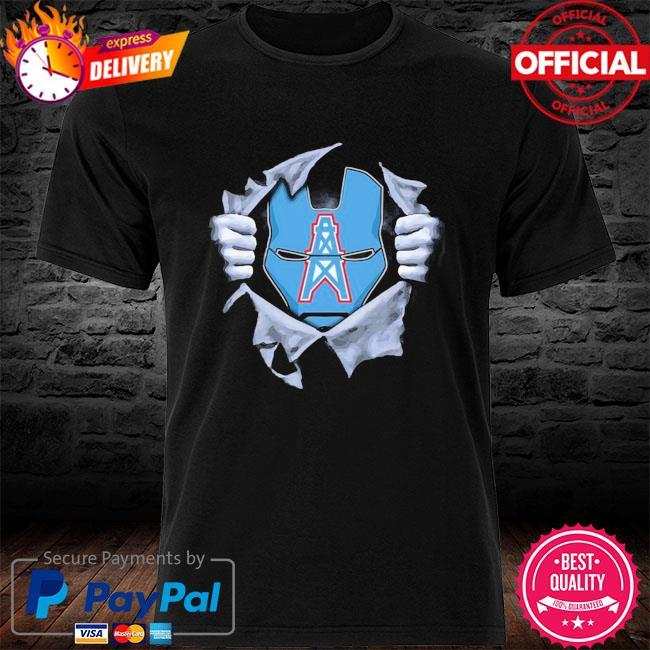 Houston oilers ironman logo Dc marvel jersey superhero avenger shirt