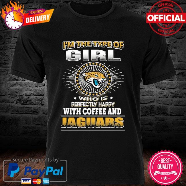 Jacksonville Jaguars Girl Loves Coffee shirt
