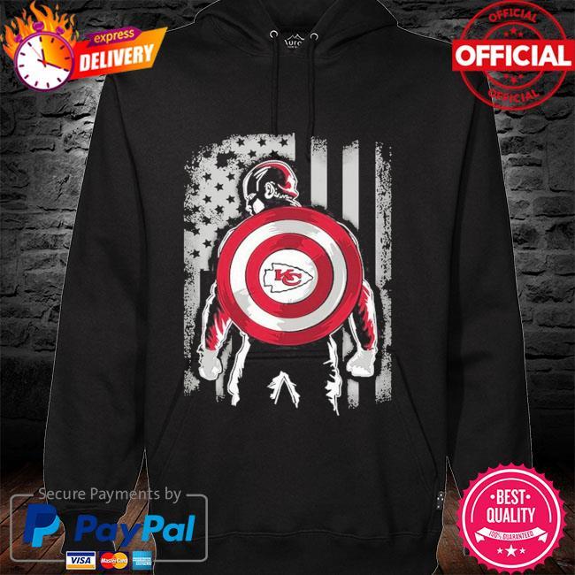 Kansas City Chiefs Captain Dc Marvel Jersey Superhero Avenger hoodie