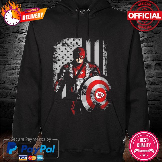 Kansas City Chiefs Captain Flag Dc Marvel Jersey Superhero Avenger hoodie