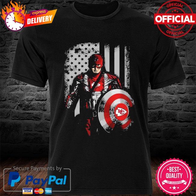 Kansas City Chiefs Captain Flag Dc Marvel Jersey Superhero Avenger shirt