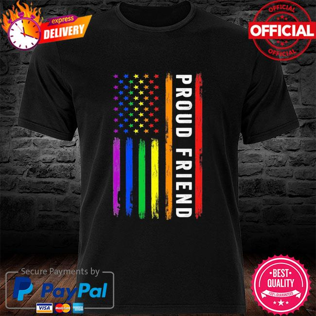 Lgbt proud friend rainbow American flag shirt