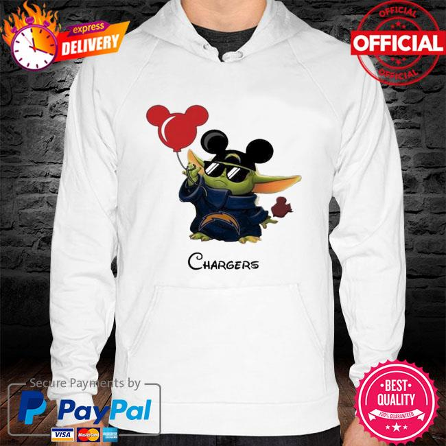 Los Angeles Chargers Baby Yoda Vacay In Disneyland Fan T Shirt hoodie