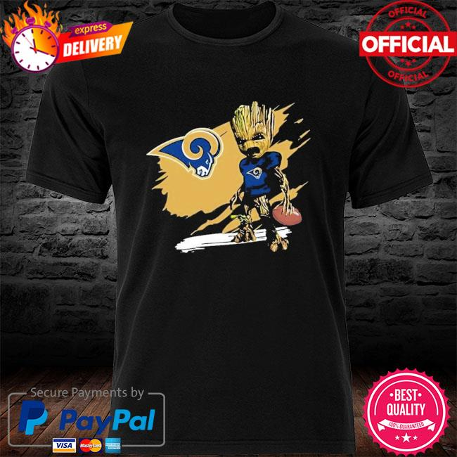 Los Angeles Rams Angry Baby Groot Ripped Shirt