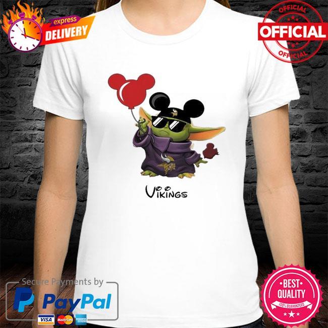 Minnesota Vikings Baby Yoda Vacay In Disneyland Fan T Shirt