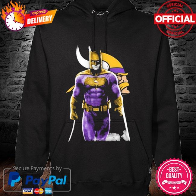 Minnesota Vikings Batman Bruce Wayne hoodie