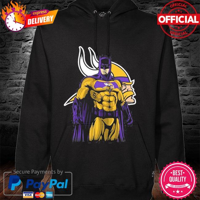 Minnesota Vikings Batman Dc Marvel Jersey Superhero Avenger hoodie