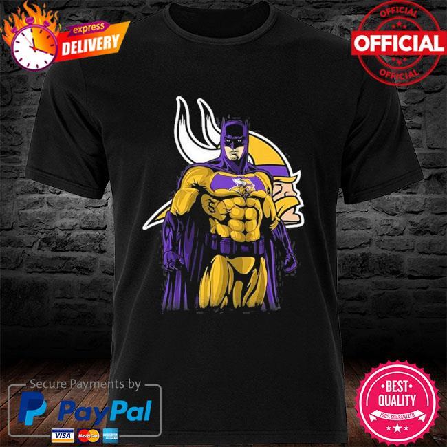 Minnesota Vikings Batman Dc Marvel Jersey Superhero Avenger shirt