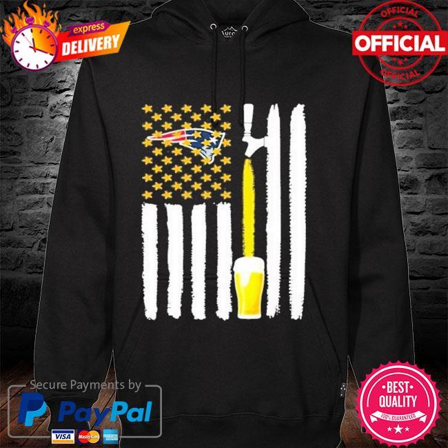 New England Patriots Beer American Flag Shirt hoodie