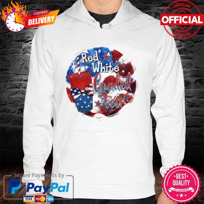 Red White Loaded Tea Shirt hoodie