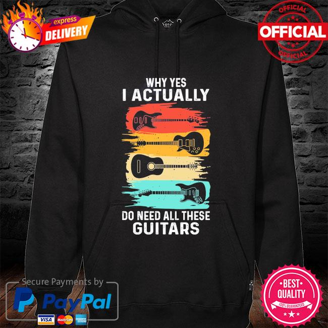 Why yes I actually do need all these Guitars vintage hoodie