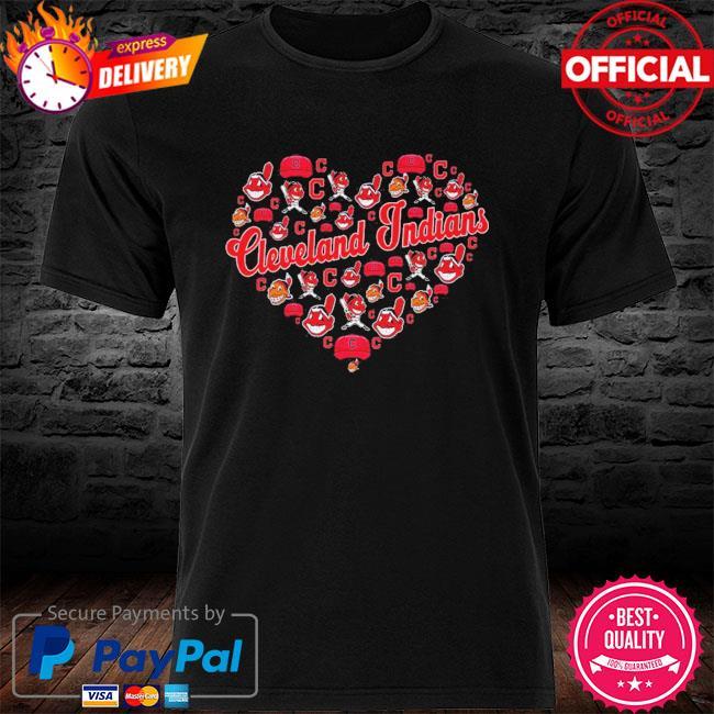 Cleveland indians heart shirt
