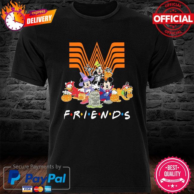 DIsney Characters Halloween Whataburger friends shirt