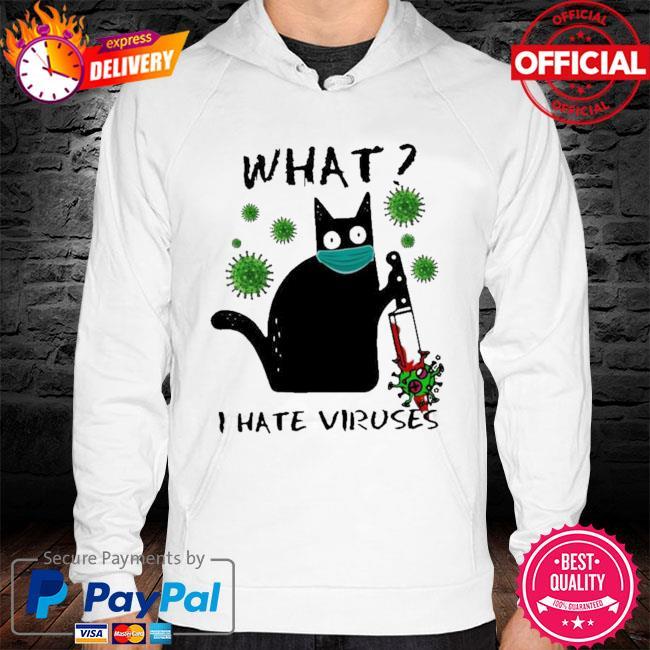 Michael Myers Black Cat what I hate Viruses hoodie