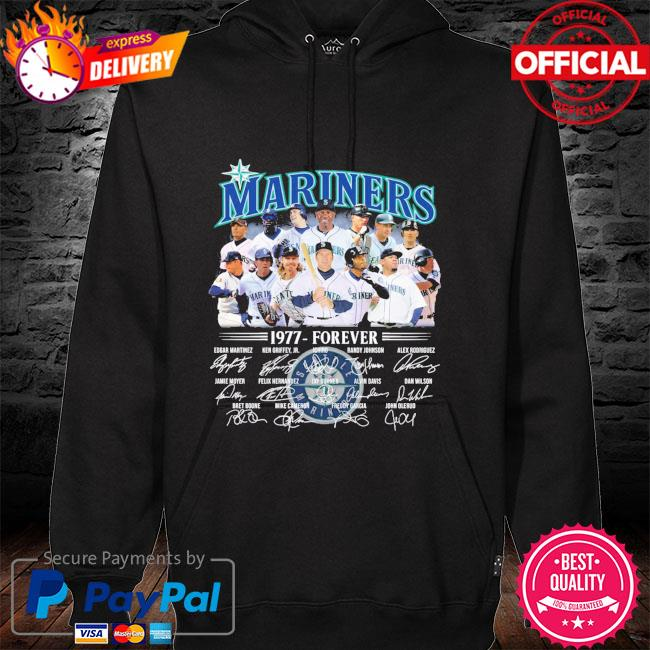 Official Seattle Mariners 1977-forever signatures t-s hoodie