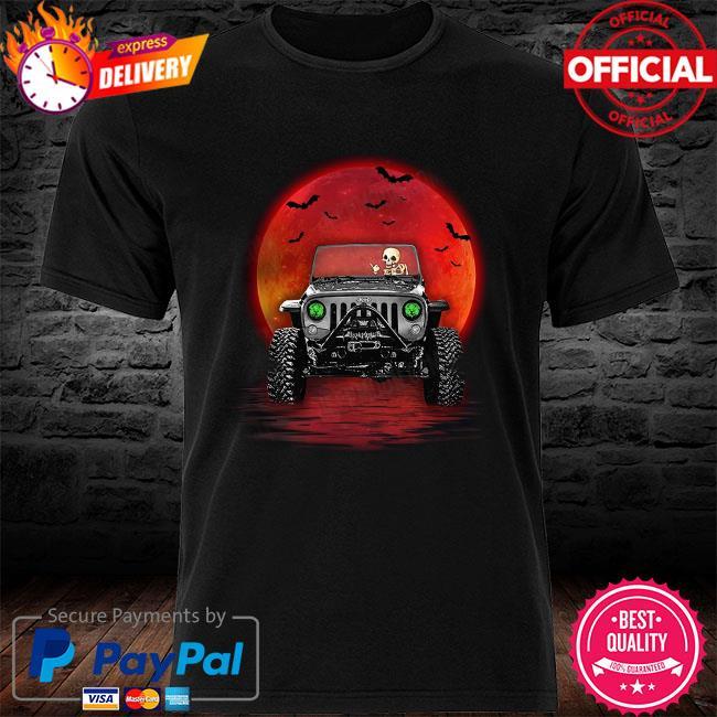 Skeleton drive Jeep Mom Halloween shirt